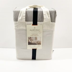 Hearth & hand linen blend duvet cover set king siz